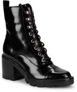 Marc Fisher Wanya Leather Combat Boots