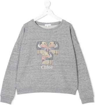 Chloé Kids toucan print sweatshirt