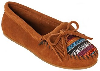 Minnetonka Suede Leather Moccasins - Kilty Arizona Fabric