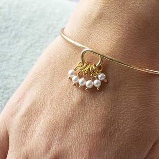 Joy by Corrine Smith Special Birthday Pearl Charm Bangle