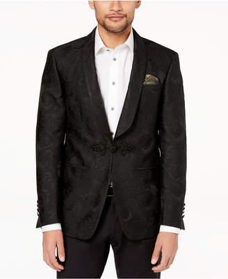 Tallia Orange Men's Big & Tall Modern-Fit Black Tonal Paisley Dinner Jacket