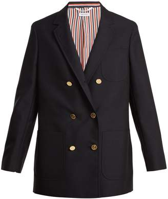 Thom Browne Double-breasted wool and mohair-blend blazer
