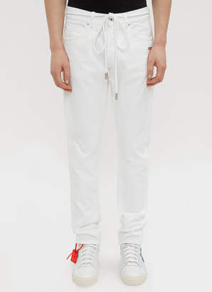 Off-White Off White Slim Fit Back Dart Jeans in White
