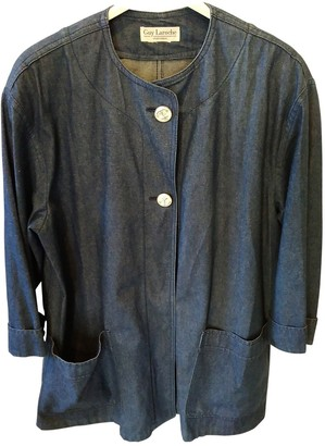 Guy Laroche Blue Cotton Jacket for Women