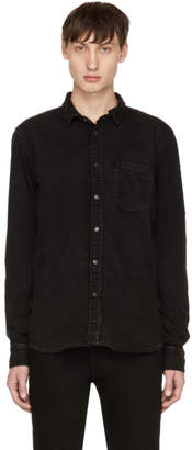 Nudie Jeans Black Denim Henry Shirt