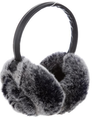 Adrienne Landau Adrienne Landau Leather Fur-Trimmed Earmuffs w/ Tags