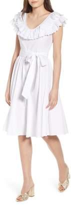 LOST INK Ruffle Eyelet Dress