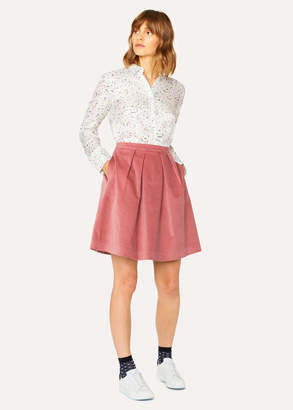 Paul Smith Women's Dusky Pink Corduroy Stretch-Cotton Skirt