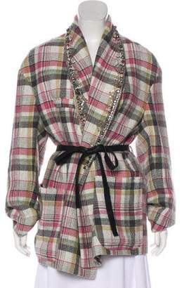 Isabel Marant Milroy Embellished Plaid Jacket w/ Tags