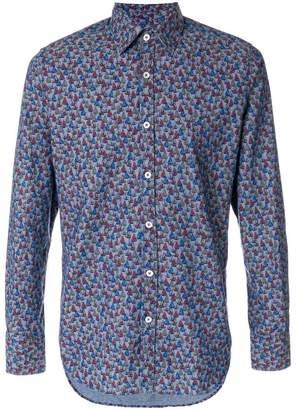 Canali boat-print formal shirt