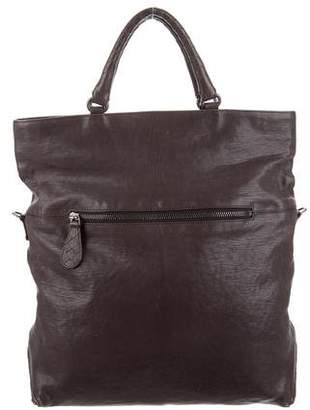 Bottega Veneta Intrecciato-Trimmed Leather Satchel