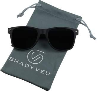 b890513930 ShadyVEU - Exclusive Super Dark Lens Retro 80 s Spring Hinge Old School  Sunglasses (Soft