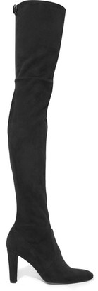 Stuart Weitzman - Alllegs Ultrastretch Over-the-knee Boots - Black $815 thestylecure.com