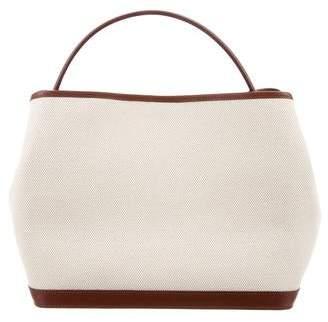 Loro Piana Gazebo Leather-Trimmed Bag