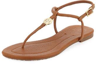 Tory Burch Emmy Flat Crackled Leather Sandal