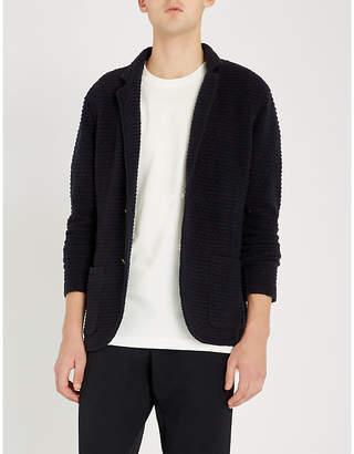 Eleventy Single-breasted wool-blend blazer