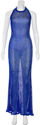 Balmain Open Knit Evening Dress