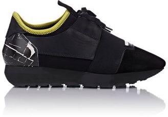 Balenciaga Women's Marble-Motif Race Sneakers-DARK GREY $655 thestylecure.com