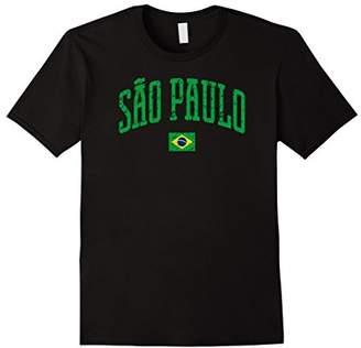 Sao Paulo Brazil Flag Vintage City T-Shirt
