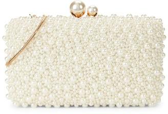La Regale Faux Pearl-Embellished Minaudiere