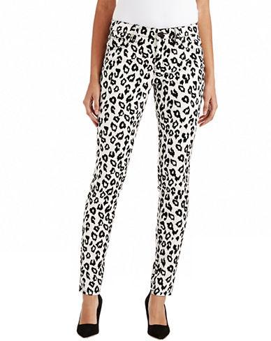 TINSEL Cheetah Flocked Skinny Pants