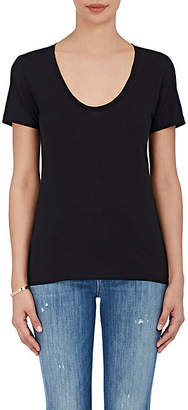 Barneys New York Women's Pima Cotton Scoopneck T-Shirt - Black