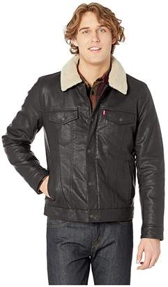 Levi's Classic Faux Leather Trucker with Removable Sherpa Collar