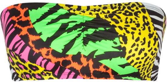 Neon Mixed Animal Bandeau