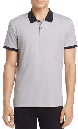 Theory Contrast-Trim Piqué Slim Fit Polo Shirt