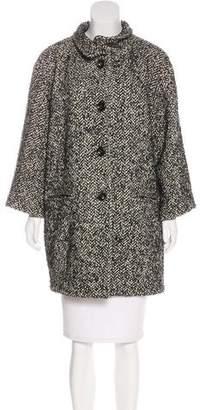 Nicole Miller Knee-Length Bouclé Coat