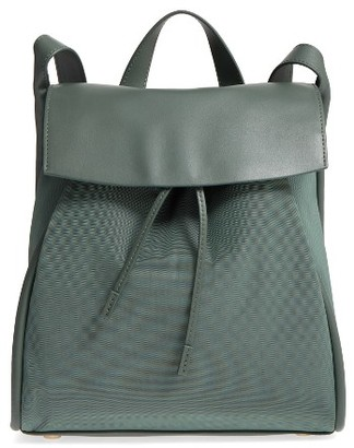 Skagen Ebba Leather Backpack - Green $195 thestylecure.com