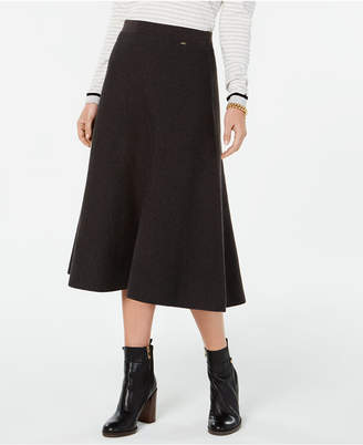 Tommy Hilfiger A-line Midi Skirt