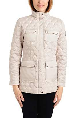 Vince Camuto Women's DNU Patch Pocket Quilted Jacket Outerwear, Black, L