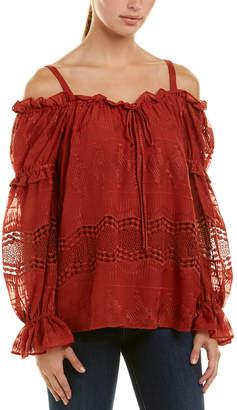 BCBGMAXAZRIA Embroidered Top