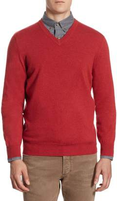 Brunello Cucinelli Regular-Fit V-Neck Cashmere Sweater