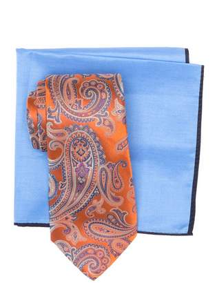 Ted Baker Silk Ornate Satin Paisley Tie & Pocket Square