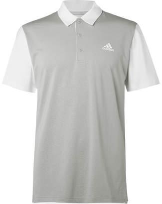 492855e9 adidas Ultimate 2.0 Novelty Stretch-jersey Golf Polo Shirt - Gray