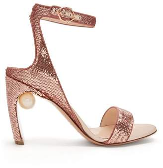 Nicholas Kirkwood Lola Faux Pearl Sequin Embellished Sandals - Womens - Pink