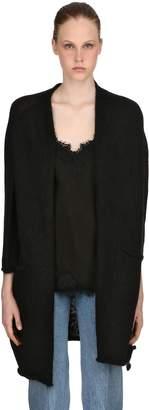 Mohair Blend Knit Maxi Cardigan