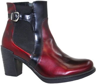Dromedaris Real Leather Side Zip Ankle Boots -Guinevere