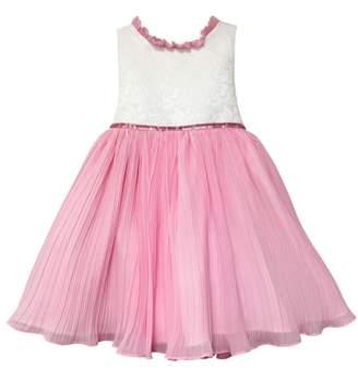 Dorissa Miranda Ruffle Pleated Party Dress