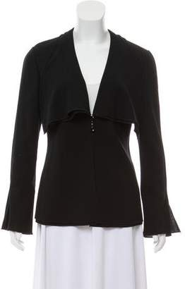 Valentino Ruffle-Trimmed Evening Jacket