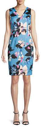 Vince Camuto Floral-Print Sleeveless Dress