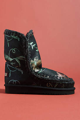 Mou Printed Shearling-Lined Boots
