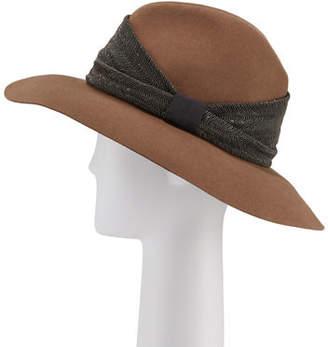 Brunello Cucinelli Cashmere Monili-Beaded Fedora Hat
