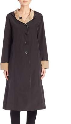 Jane Post Women's Reversible Hooded Coat