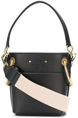 Chloé black Roy Mini Leather Bucket Bag