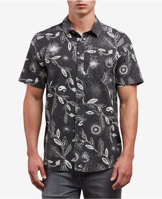 Volcom Men's Broha Slim-Fit Leaf-Print Shirt