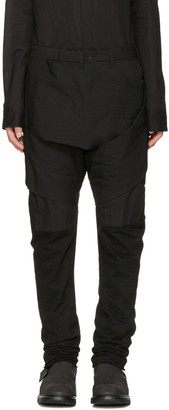 Julius Black Layered Bands Trousers $910 thestylecure.com