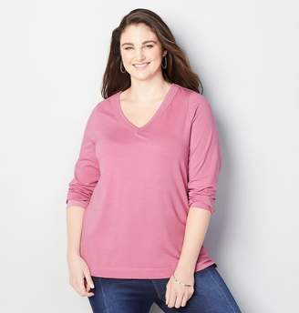 Avenue Solid V-Neck Tee
